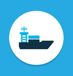 ship icon colored symbol premium quality isolated vector image