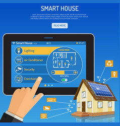 Smart House and internet things vector image