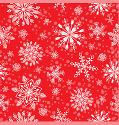 snowflake seamless pattern weather vector image