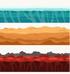 soil seamless layers surroundings with rock stone vector image