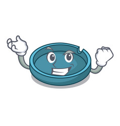 Successful ashtray character cartoon style vector