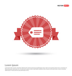 tag icon - red ribbon banner vector image