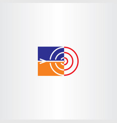Target and arrow point icon logo vector