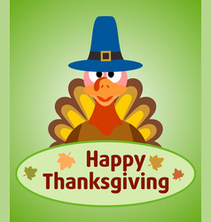 Thanksgiving day background with turkey vector