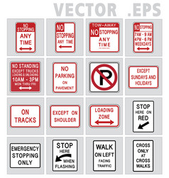 traffic sign road graphic vector image