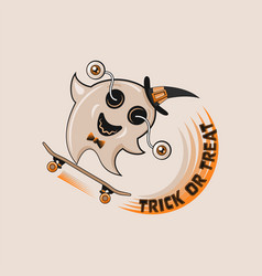 trick or treat card design vector image