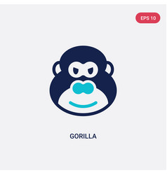 two color gorilla icon from africa concept vector image