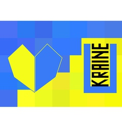 Ukraine flag in polygonal style vector
