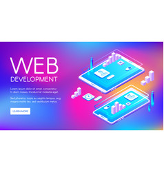 Web development technology vector