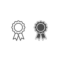 white and black award icons isolated vector image