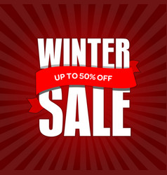 winter sale badge label promo banner template up vector image
