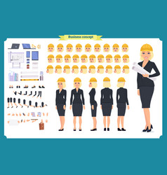 woman architect in business suit vector image