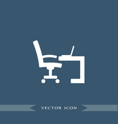 Workplace icon simple furniture sign vector