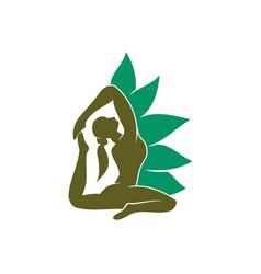 yoga meditation woman health lotus spa template vector image