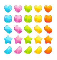 cute glossy jelly candies set vector image