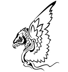 eagle with raised wings vector image