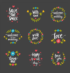 hand drawn typography save the date quote vector image
