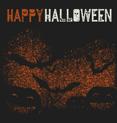 happy halloween holiday logotype pumpkins and vector image vector image