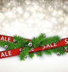 Sale christmas background vector image vector image