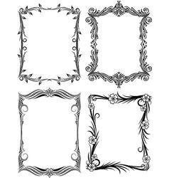 set of frames for your design vector image vector image