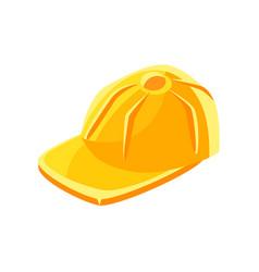 yellow baseball cap vector image