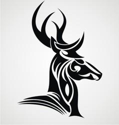 Deer Head Tattoo Design vector image vector image