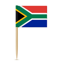 south africa flag toothpick on white background vector image vector image