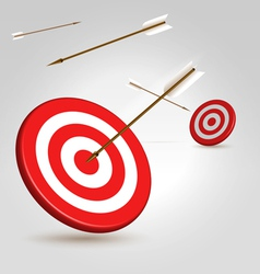 Two targets vector image vector image