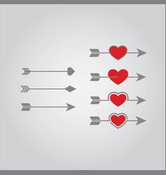 arrow love vector image