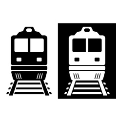 black and white isolated train vector image vector image