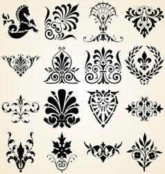 Decorative ornaments design elements vector image