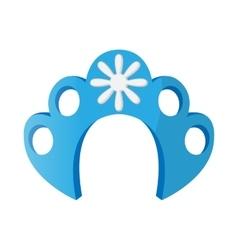 Kokoshnik icon in cartoon style vector image