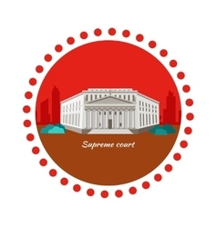 Supreme court concept icon flat design vector