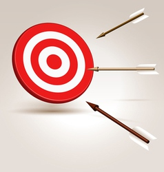 Arrows flying to target vector image vector image