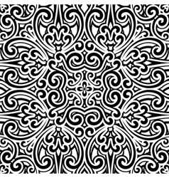 Black and white swirly pattern vector image vector image
