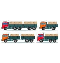 Delivery truck isolated on white background vector image
