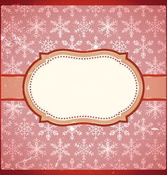 Vintage frame with snowflakes vector image vector image