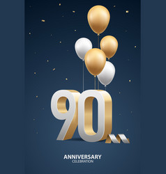 90th year anniversary background vector