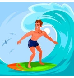 A surfer vector