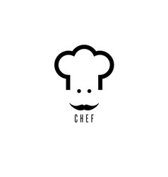 abstract chef with mustache design template vector image
