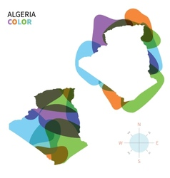 Abstract color map of Algeria vector image