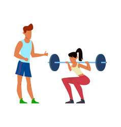 active sport woman with trainer girl in vector image