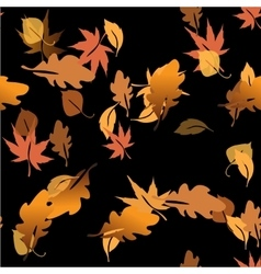 Autumn leaves in a water vector