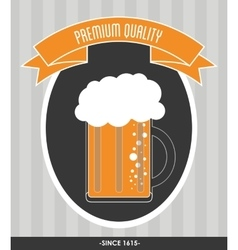 Beer glass icon Drink and beverage design vector image