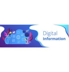big data header banner vector image