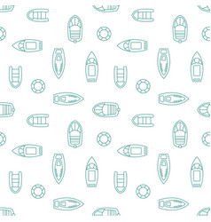boats silhouettes seamless pattern vector image