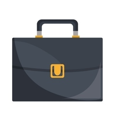 Business briefcase male accesorie isolated icon vector image
