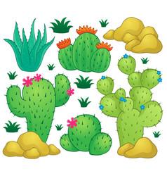 Cactus theme image 1 vector
