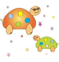 Cartoon turtle Coloring book vector image