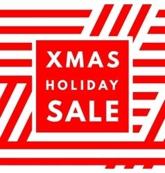 Christmas holiday sale poster vector